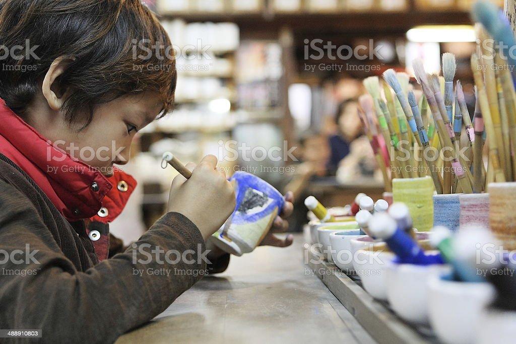 rakuyaki stock photo