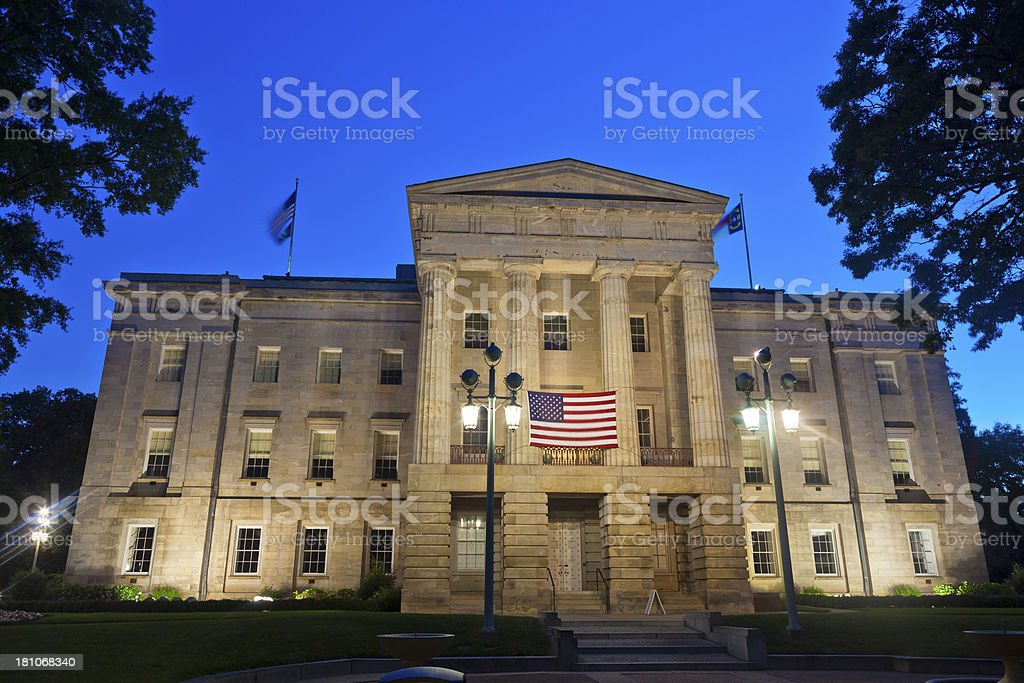 Raleigh, North Carolina Capitol Building royalty-free stock photo