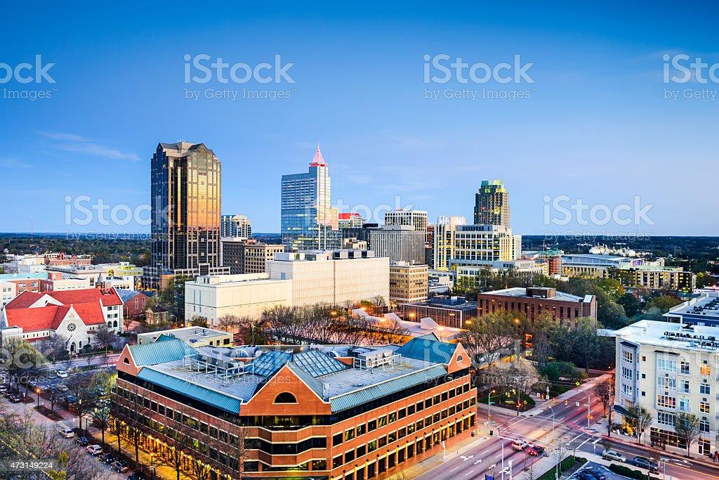 Raleigh, North Carolina Downtown Skyline royalty-free stock photo