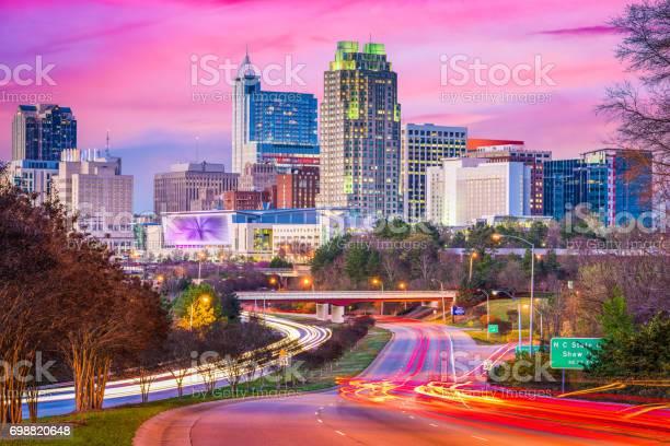 Raleigh North Carolina Usa Downtown Skyline Stock Photo - Download Image Now