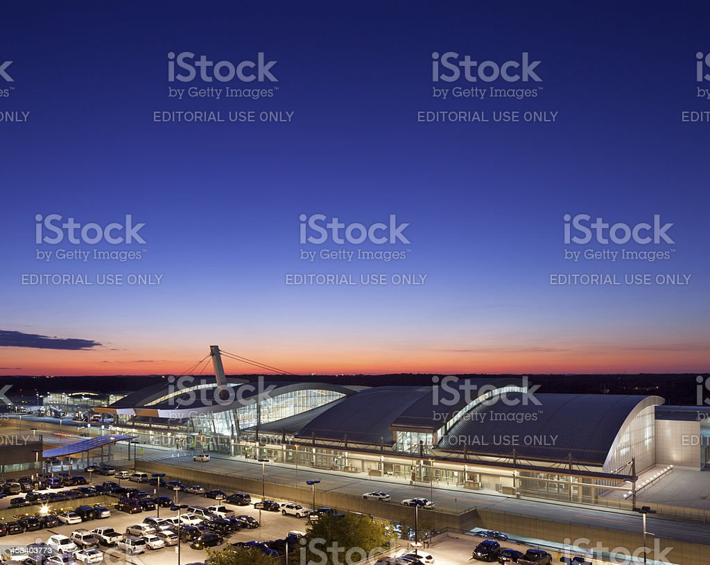 Raleigh-Durham International Airport Terminal royalty-free stock photo