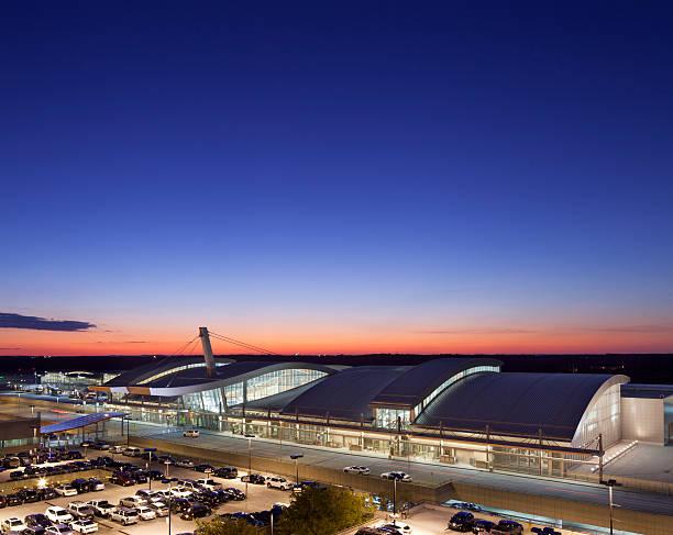 Raleigh-Durham International Airport Terminal stock photo
