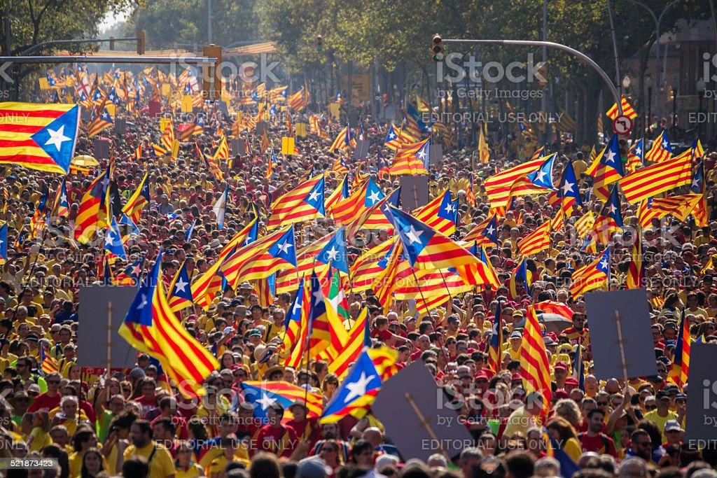 Rally für die Unabhängigkeit Kataloniens Lizenzfreies stock-foto
