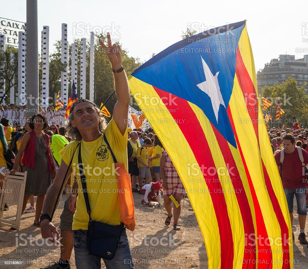 Rally für die Unabhängigkeit Kataloniens – Foto