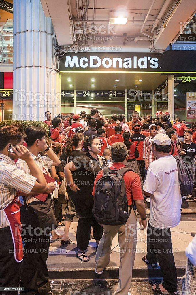 UDD (Red Shirt) Rally In Bangkok Thailand stock photo