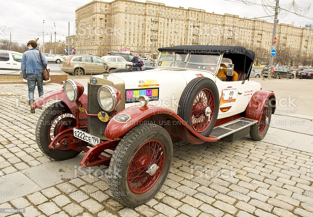 Rally of classical cars, Moscow, alfa-romeo royalty-free stock photo