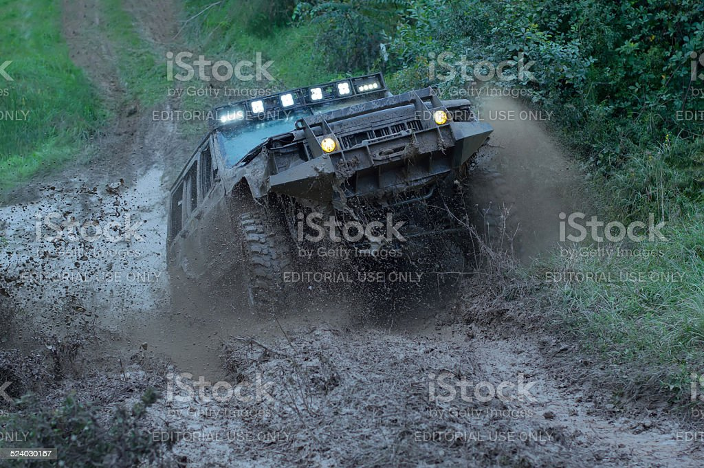 Rally race stock photo