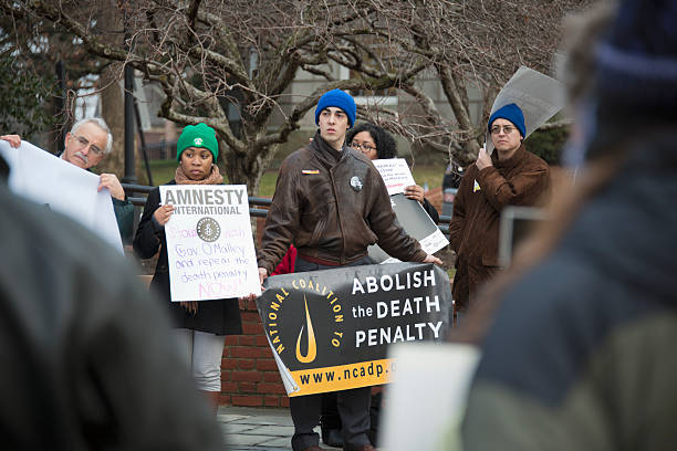 Rally to Protest Death Penalty in Maryland stock photo