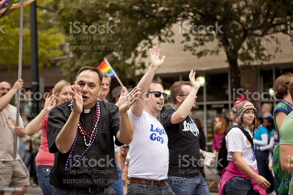 Rallying the crowd royalty-free stock photo