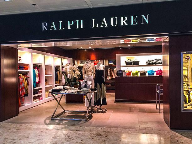 Ralph Lauren Store at Geneva Airport, Switzerland stock photo