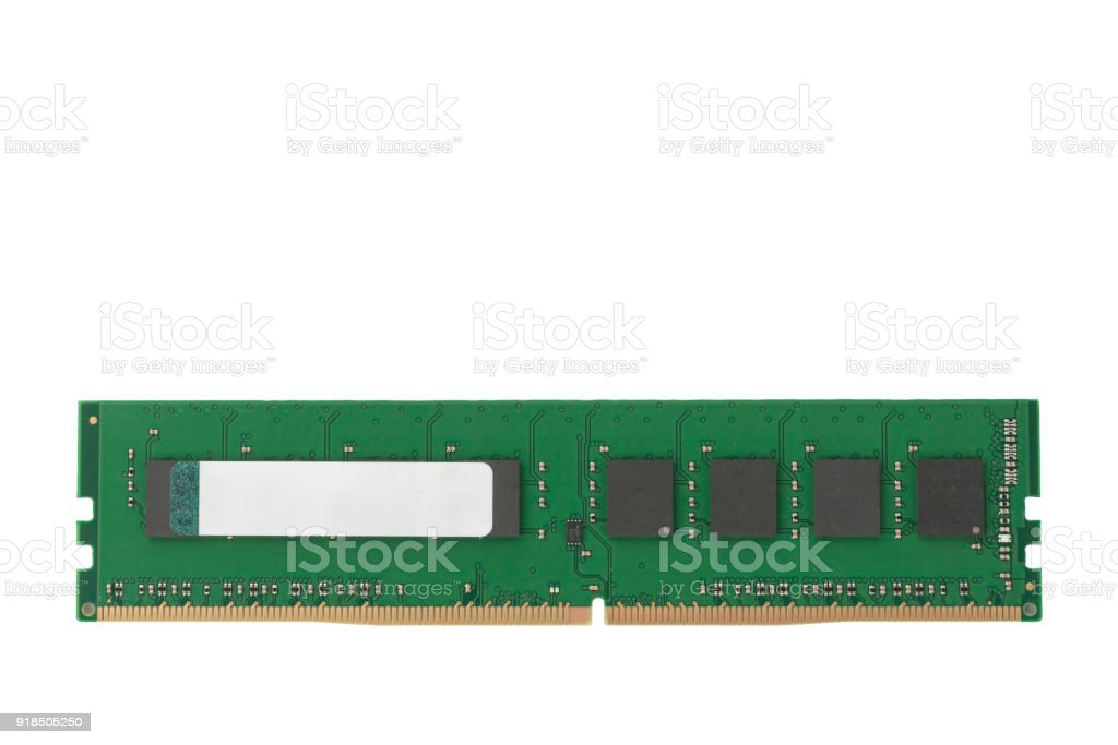 Ram 4GB DDR4 memory modules isolated on white background stock photo