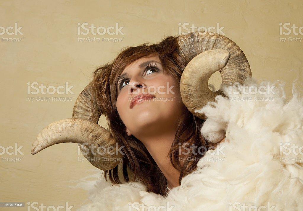 Ram girl stock photo