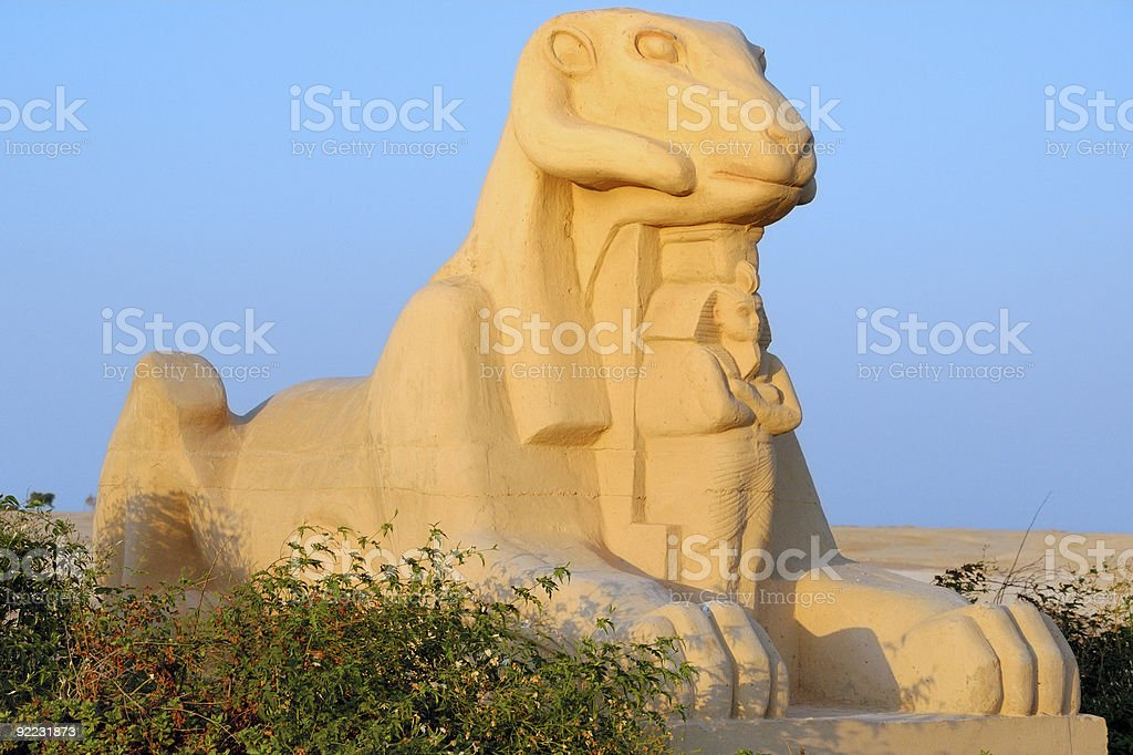 Ram headed sphinx royalty-free stock photo