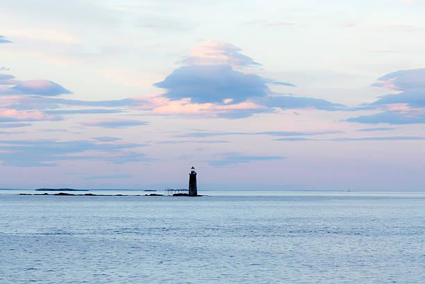 Ram Island Ledge Light - Old Maine Lighthouse stock photo