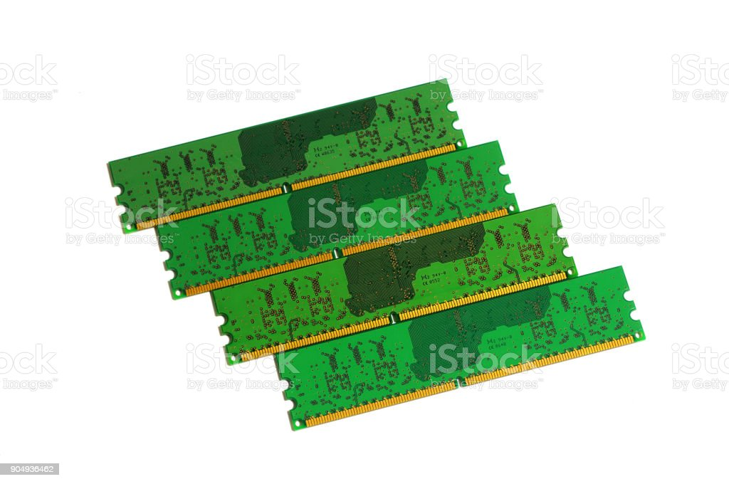 Ram Memory Modules stock photo