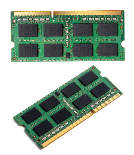 ram notebook module isolated - memory card stock photos and pictures