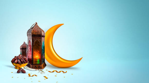 Ramadan Background 2020 Islamic concept image Ramadan concept 2020 backgrounds dates with Turkish traditional lantern Light Lamp and tasbeeh, light blue color Iftar theme image ramadan stock pictures, royalty-free photos & images