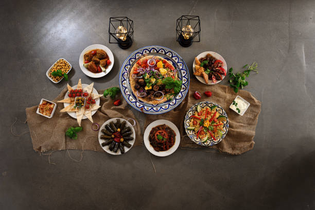 Ramadan Buffet stock photo
