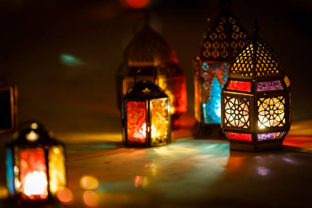 ramadan lantern - eid stock pictures, royalty-free photos & images