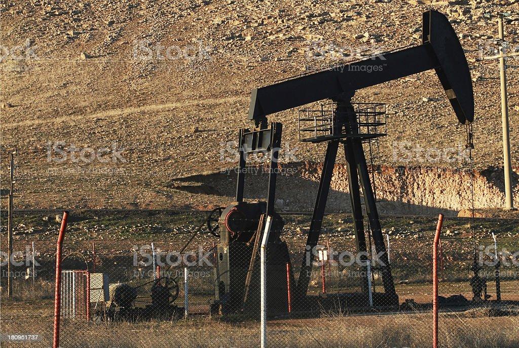 Raman Mountain oil pump stock photo