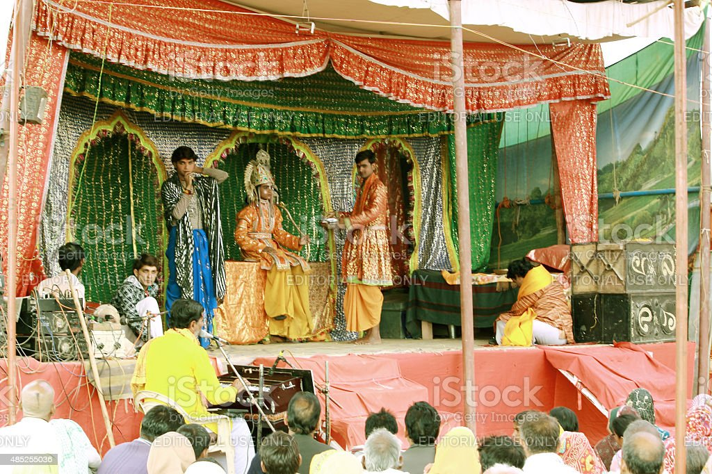 Ramayan - a play on stage stock photo