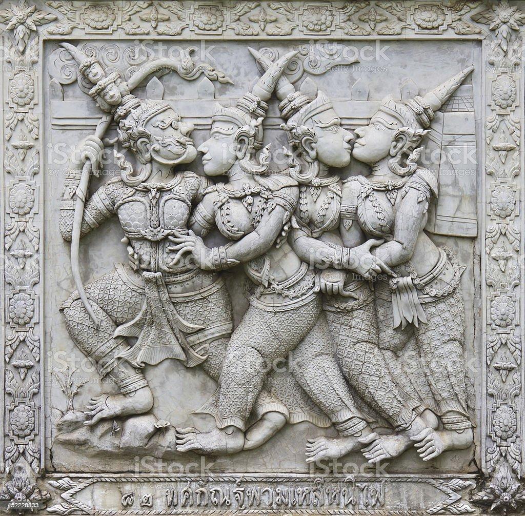 Ramayana Basrelief Sculpture Stock Photo Download Image Now Istock