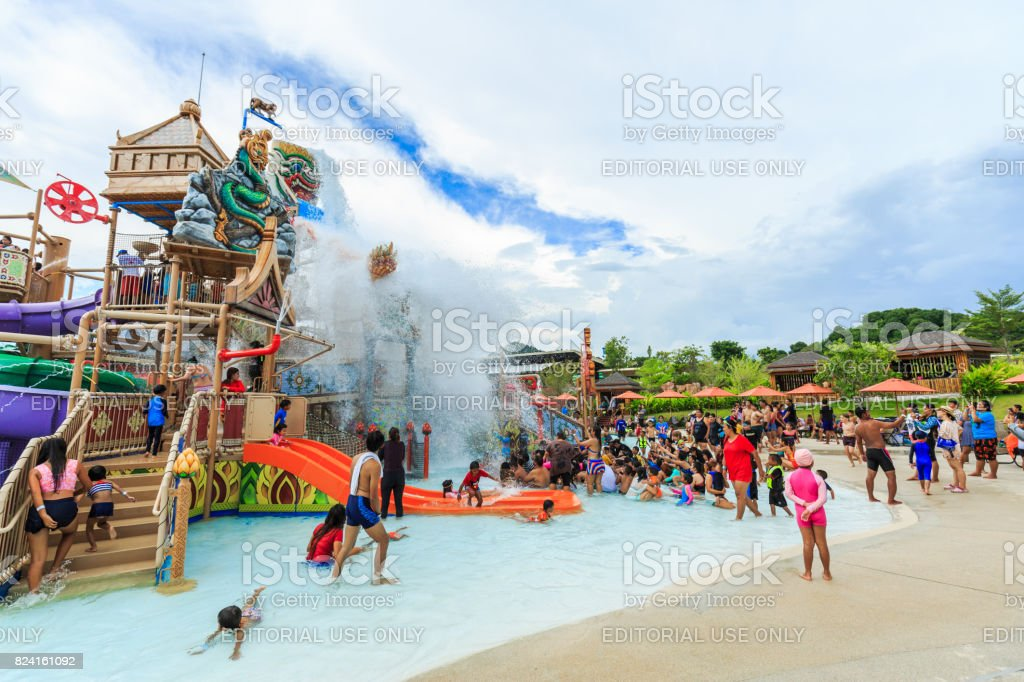 RamaYana Water Park, New recreation in Pattaya , Thailand. The Park is built to the highest international standards and using only premium equipment. stock photo