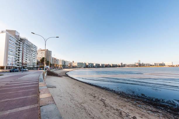 Rambla in Montevideo stock photo