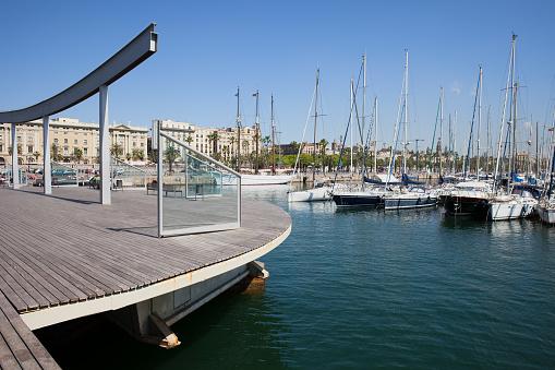 Ramble de Mar at Port Vell in Barcelona