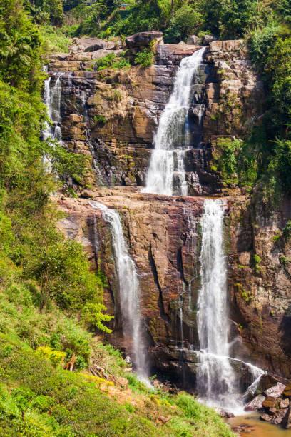 Ramboda Falls, Sri Lanka. stock photo