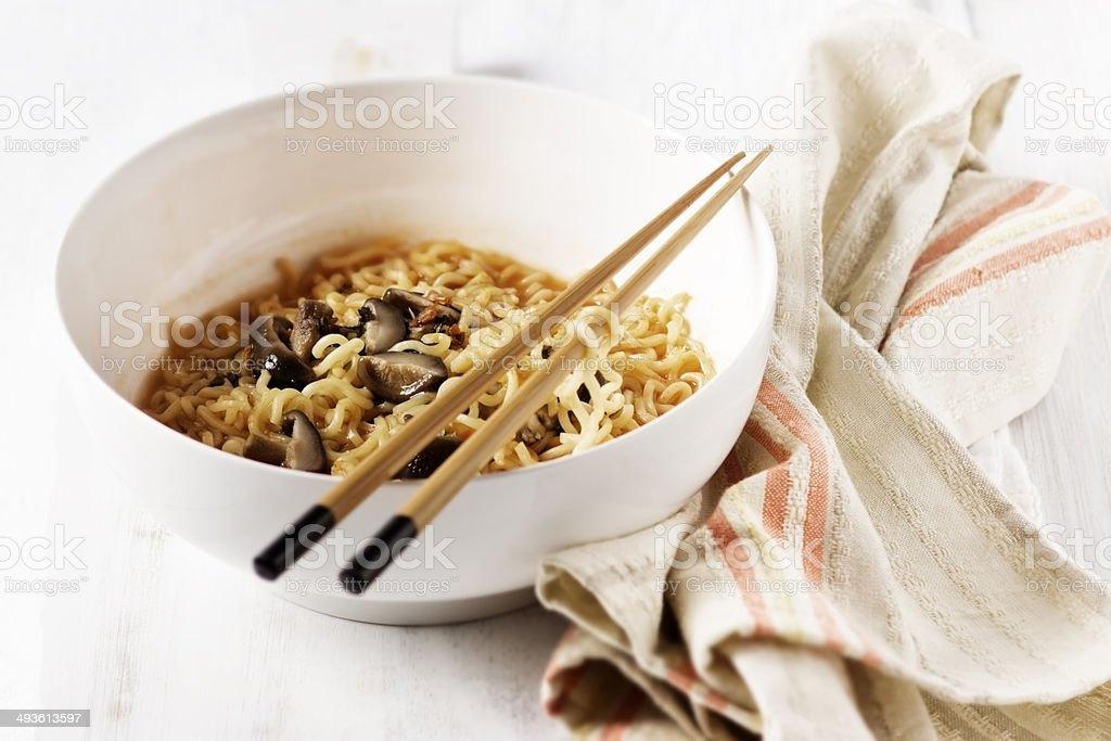 Ramen Noodle Soup stock photo