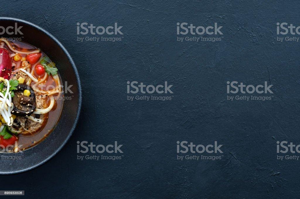 Ramen traditionelle Küche asiatische Küche Hintergrund – Foto
