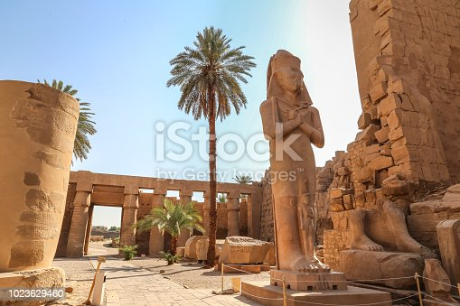 Statue of Ramesses II in Karnak temple in Luxor, Egypt,Africa