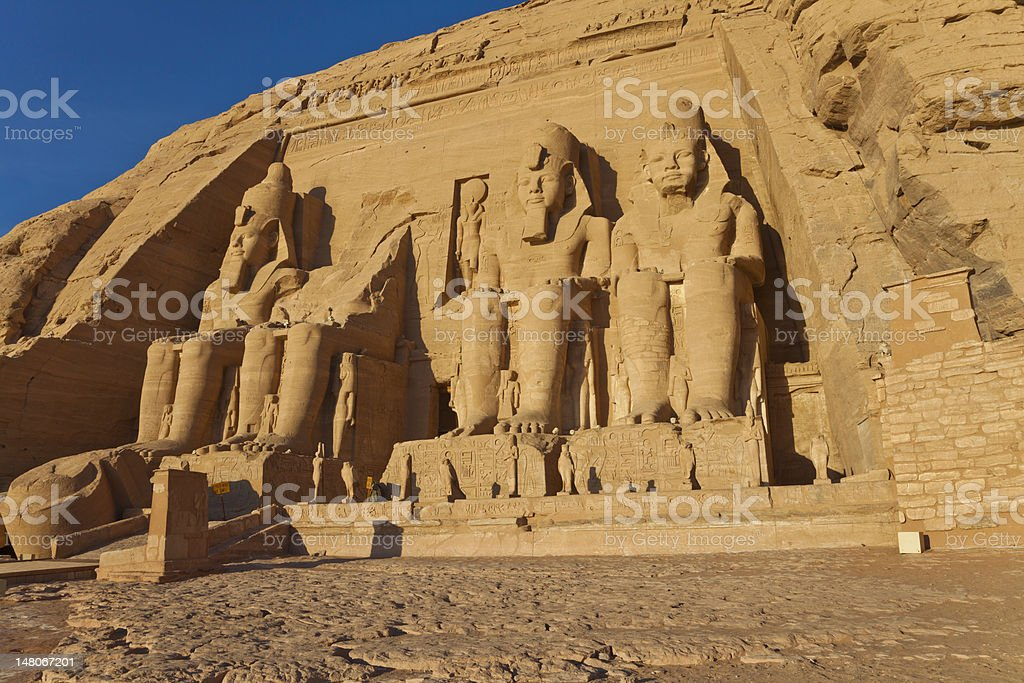 rameses II temple royalty-free stock photo