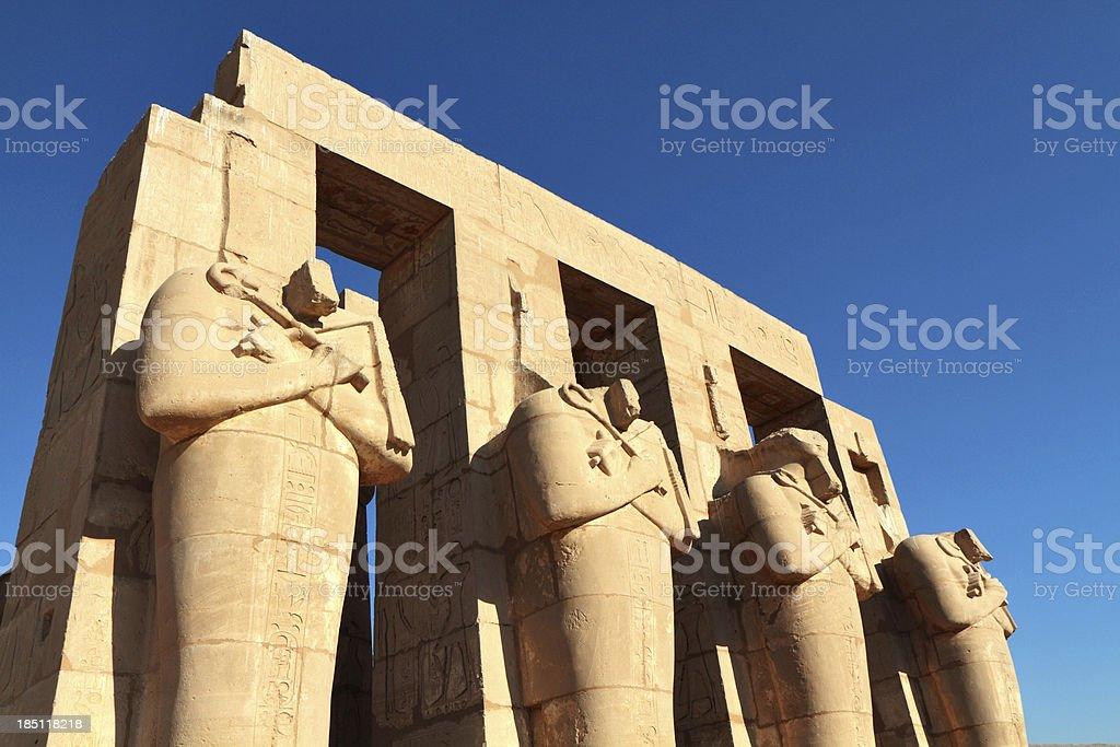 Ramesseum, Theban Necropolis, Luxor, Egypt stock photo