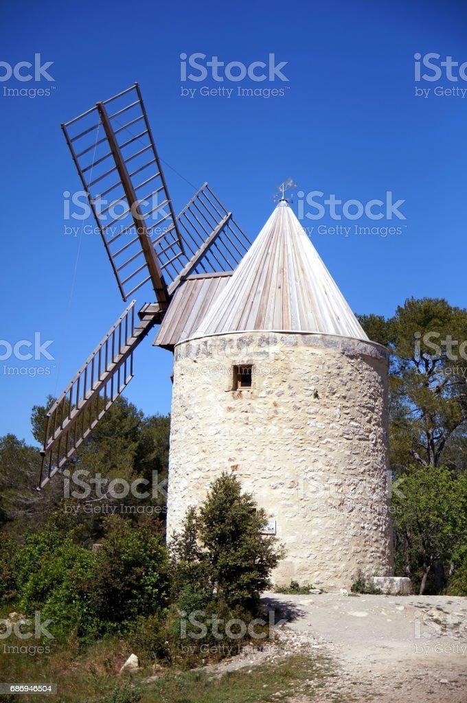Ramet windmill stock photo