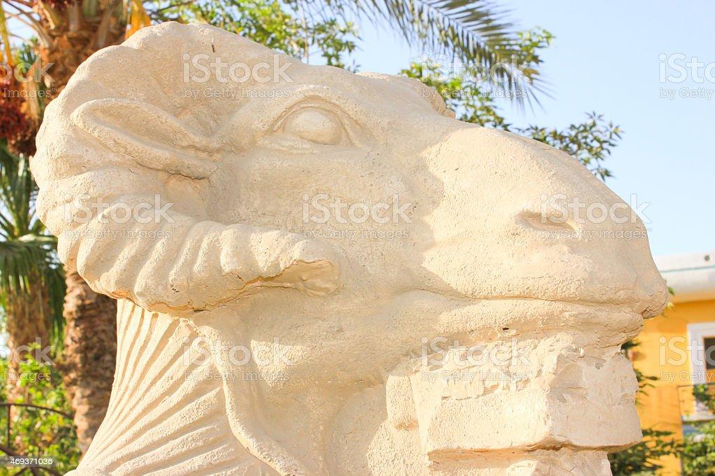 ram-headed sphinx stock photo