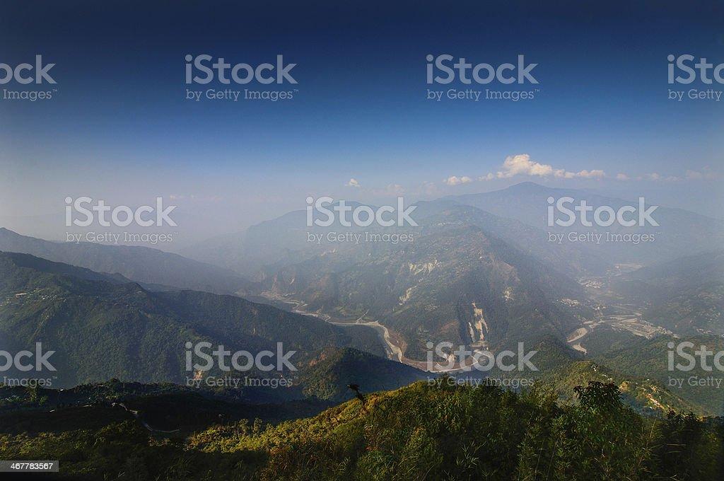 Ramitey view point, Sikkim, India royalty-free stock photo