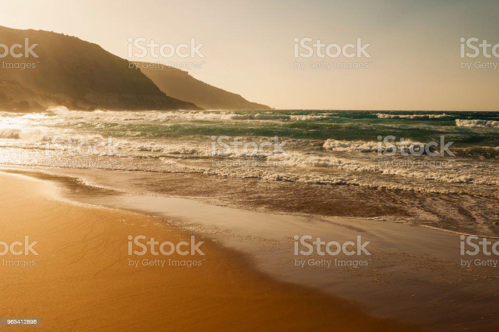 拉姆拉灣, 戈佐島, 馬爾他 - 免版稅光圖庫照片