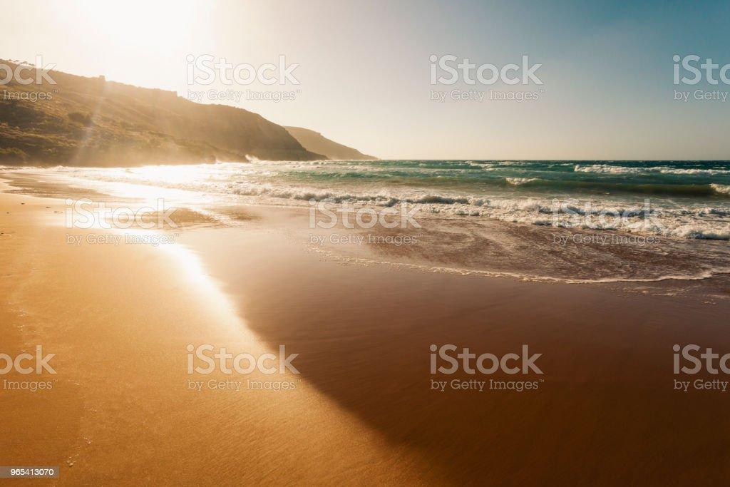 Ramla Bay, Gozo Island, Malta zbiór zdjęć royalty-free
