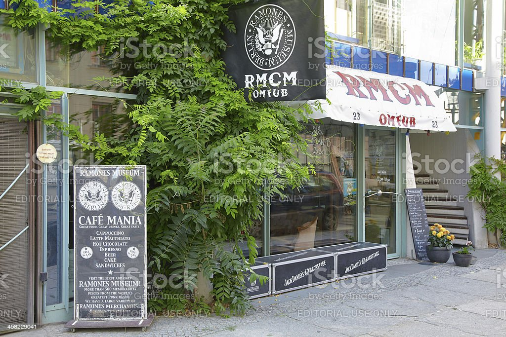 Ramones museum in Berlin stock photo