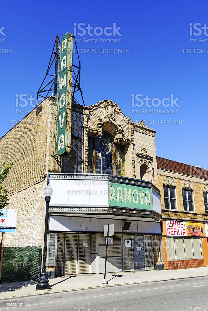 Ramova movie palace in Bridgeport, Chicago stock photo