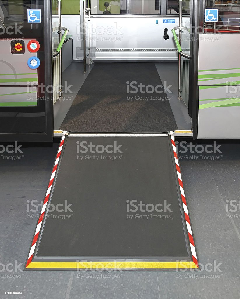 Ramp and door stock photo