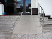 istock A ramp for disabled people going up and down in the hospital. 1255757747