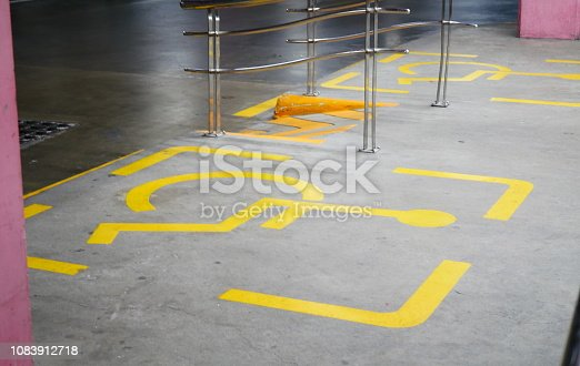 666724598 istock photo Ramp for wheelchair entrance 1083912718