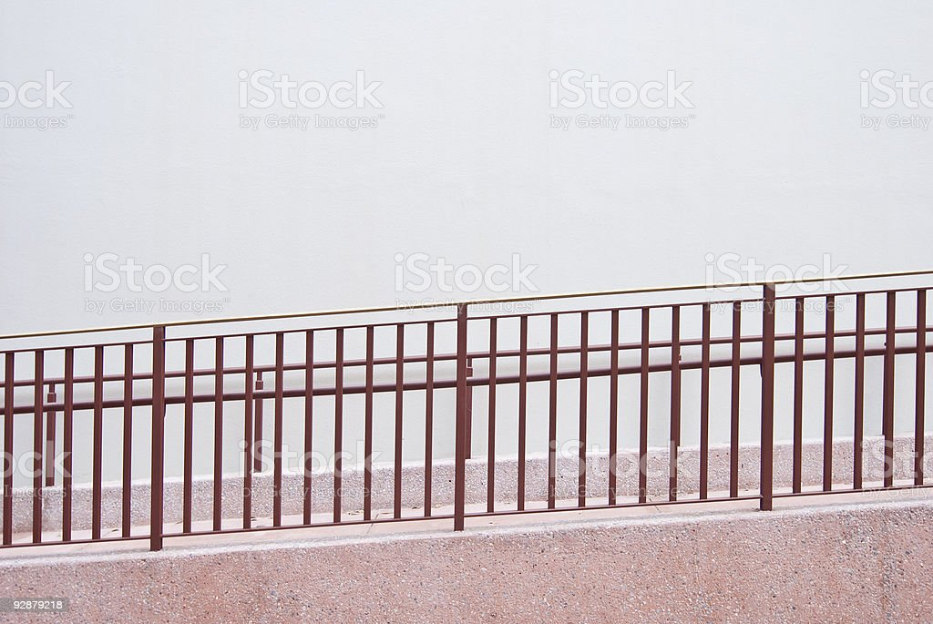 Ramp Rising from Left to Right stock photo