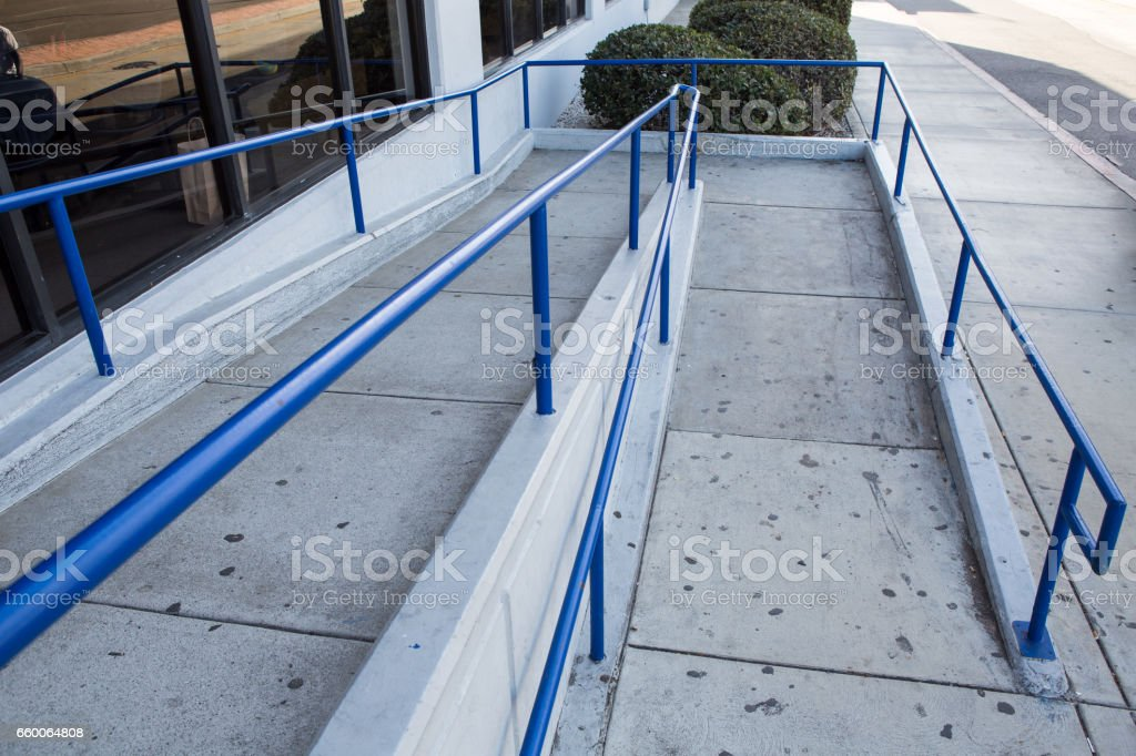 ramp way for support wheelchair disabled people. stock photo