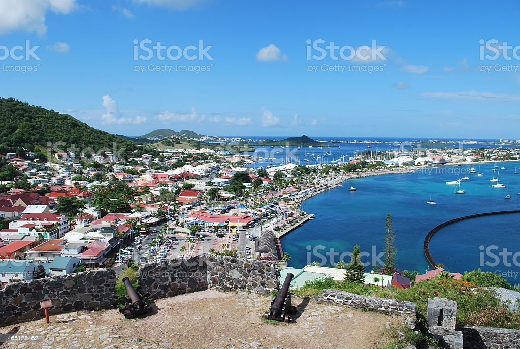 Ramparts of Fort Saint-Louis in Marigot. stock photo