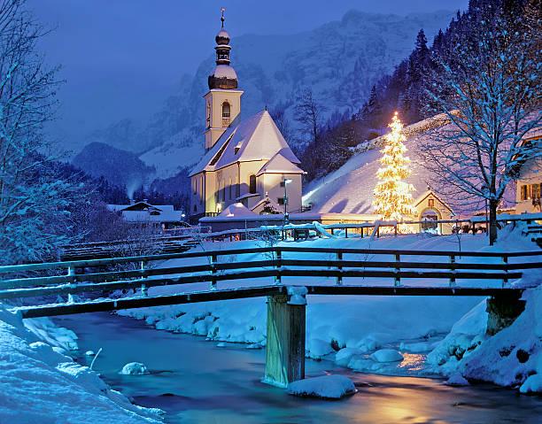 ramsau, berchtesgaden, bayern, deutschland - weihnachtsfeier münchen stock-fotos und bilder
