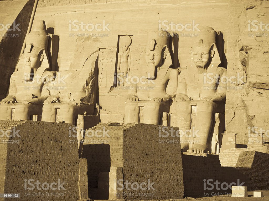 Ramses 2nd in Abu Simbelâ royalty-free stock photo